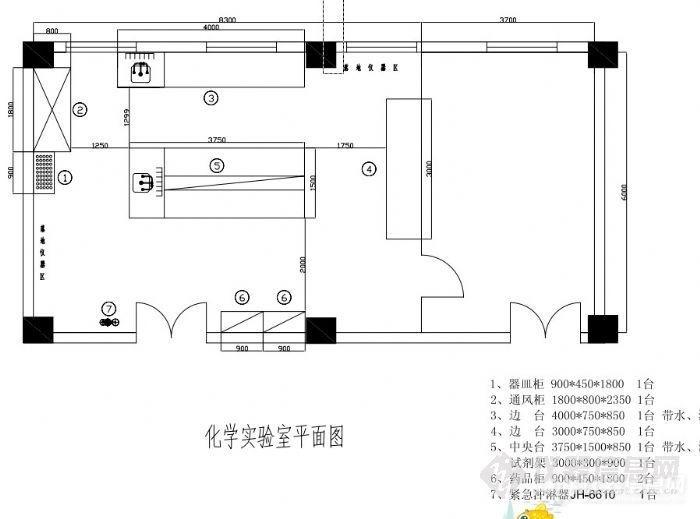 """里面要建设一个实验室 这个是初步的设计图,左下角的""""落地仪器区""""可能图片"""